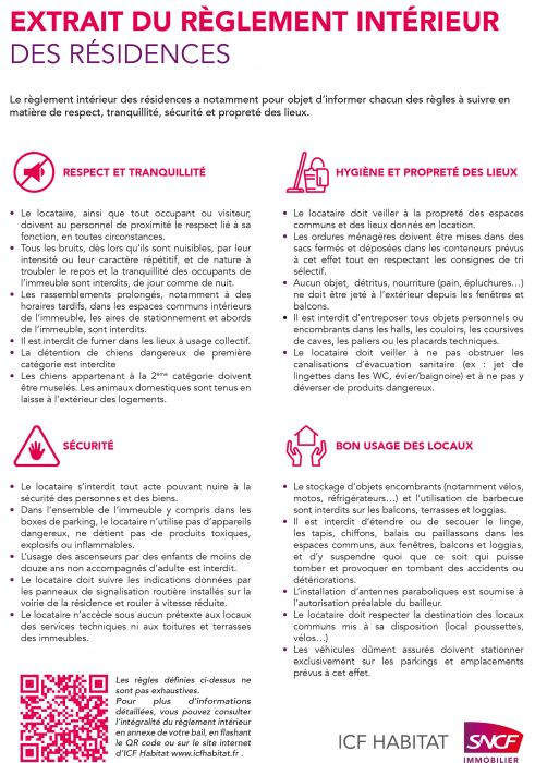 Règlement intérieur des résidences d'ICF Habitat - ICF Habitat